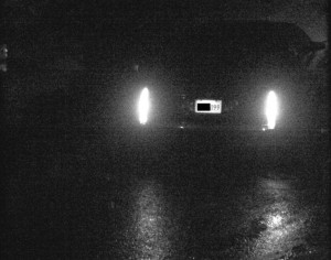 Night+Rain+Fog image of readable License plate. Click to enlarge. Actual photo