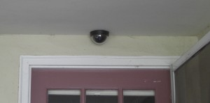 Dome camera over front door