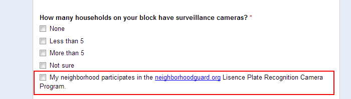 Extra points are awarded to members of Neighborhood Guard